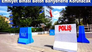 Darende Emniyet Müdürlüğü Binasına Beton Bariyer Önlemi