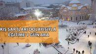 Yoğun Kar Yağışından Dolayı Okullar 1 Gün Tatil Edildi